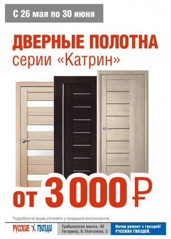 Двери от 3.000 руб. за полотно