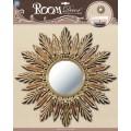 Декор.наклейка зеркало большое №1 зол. PSA4902