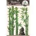 Декор.наклейка Бамбук с камнями POA9804