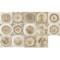 Декор Mix Circle Classic Cream (14 дизайнов) 10*10