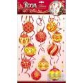 Декор.наклейка Желто-красные шары объемные PSХ1005